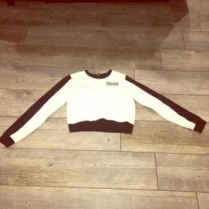 Black and White Forever 21 Cropped sweater.